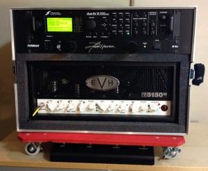 EVH 5153 50 watt with Axe Fx II in the effects loop.